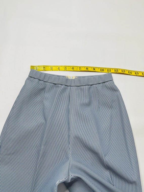 60s Mod Womens 6 Pinstriped 2 Piece Flare Pant Su… - image 10