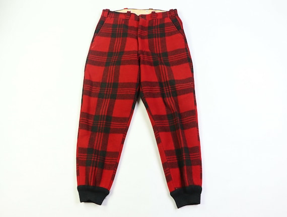 50s Woolrich Mens Size 34x30 Wool Buffalo Plaid Hu