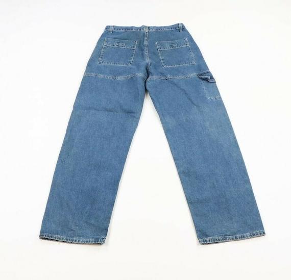 Vintage 90s Levis Wide Leg Baggy Fit Distressed D… - image 5