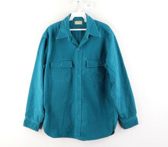 80s LL Bean Mens 16.5 Double Pocket Chamois Cloth… - image 1