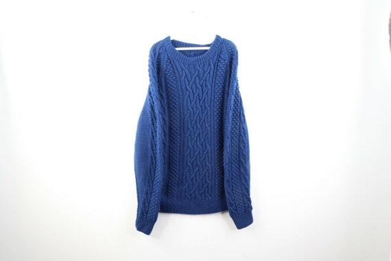 50s Rockabilly Mens XL Wool Cowichan Oversize Chun