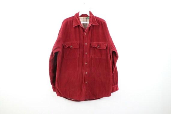 90s Streetwear Mens Medium Double Pocket Flannel L