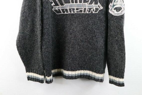 90s Avirex Varsity Mens XL Wool Acrylic Knit Spel… - image 3