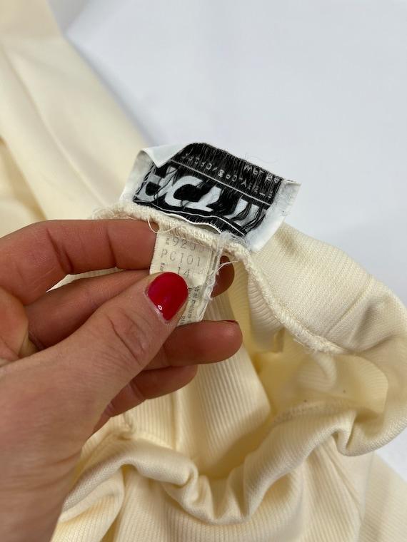 60s Mod Womens Large Ivory Striped Wide Leg Pant … - image 10