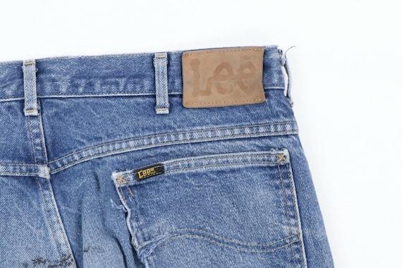 80s Lee Mens 36x28 Straight Leg Thrashed Distress… - image 7
