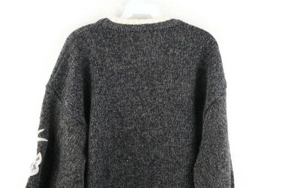 90s Avirex Varsity Mens XL Wool Acrylic Knit Spel… - image 9