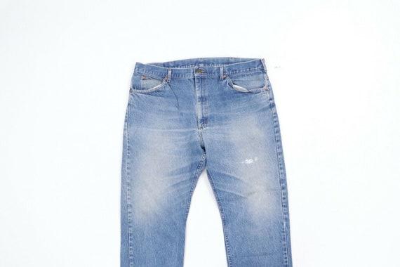 80s Lee Mens 38x29 Straight Leg Thrashed Distress… - image 2