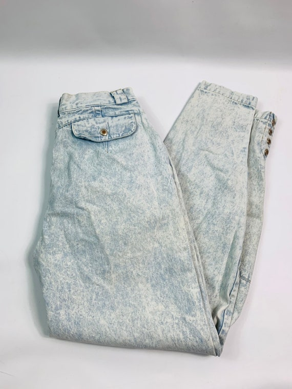 VTG 80s Streetwear Womens 10 Tapered Leg Acid Was… - image 2