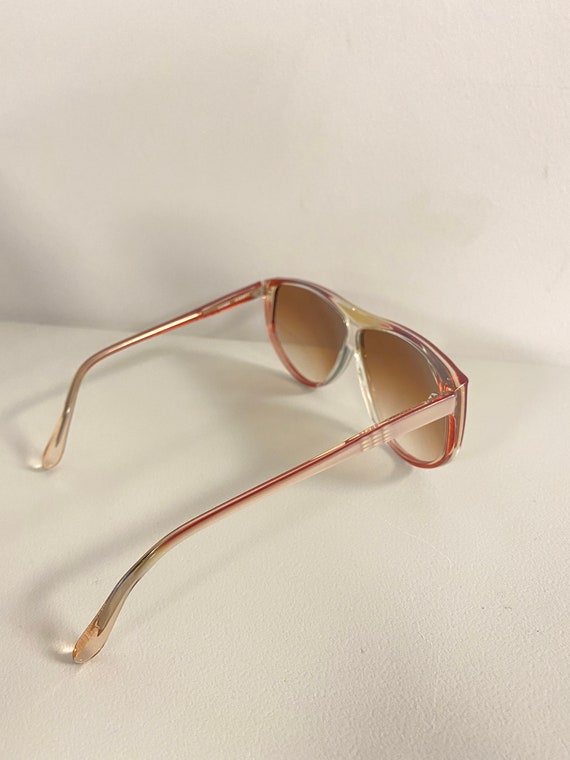 90s NOS Deadstock Clear Pink Acetate Sunglasses R… - image 6