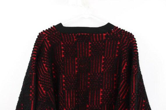 80s Streetwear Mens Medium Football Knit Varsity … - image 8
