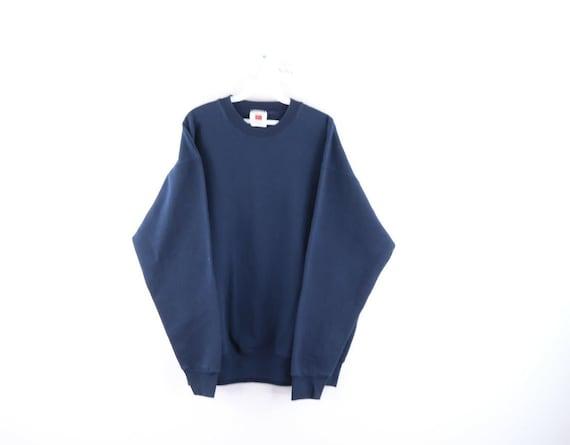 90s Streetwear Mens XL Blank Long Sleeve Crewneck