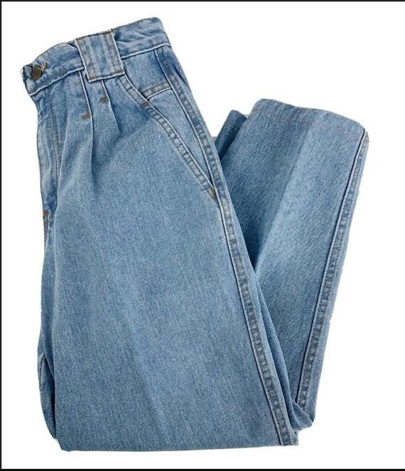 VTG 90s Streetwear Womens 8P Pleated High Rise Ta… - image 1