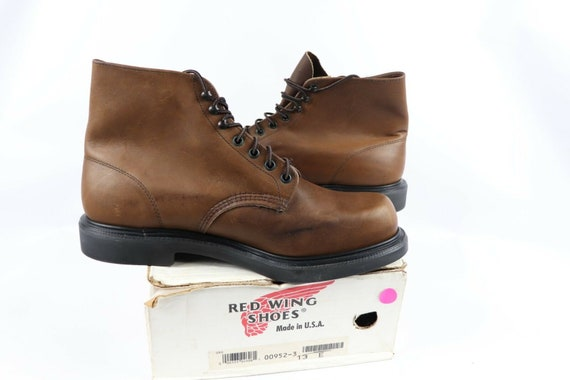 NOS Vtg 90s Red Wing Shoes Mens 13 E Oil Tanned L… - image 7