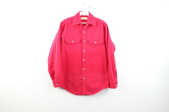 80s Streetwear Mens Small Double Pocket Chamois Cl