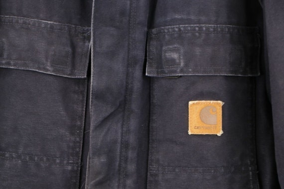 90s Carhartt Mens 2XL Spell Out Corduroy Collar D… - image 4