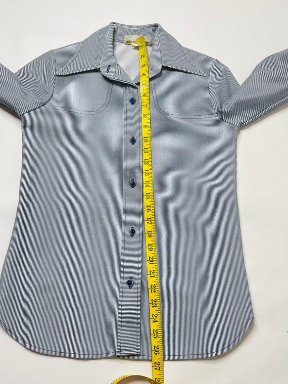 60s Mod Womens 6 Pinstriped 2 Piece Flare Pant Su… - image 9