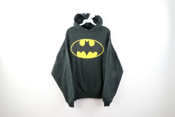 90s Mens Size Large DC Comics Batman Logo Faded Ho