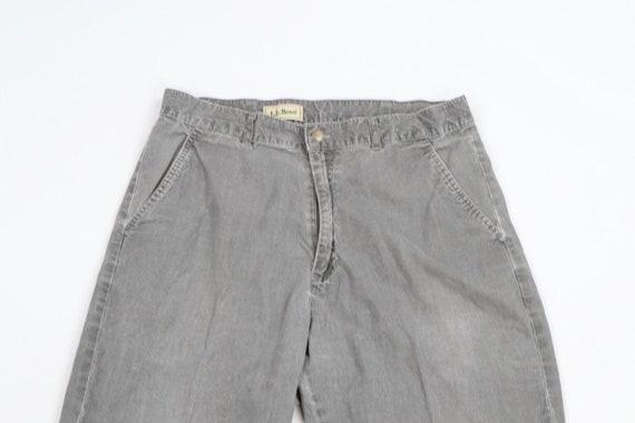 80s LL Bean Mens 31x29 Straight Leg Faded Distres… - image 2
