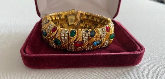 40s vintage golden bracelet gemstone