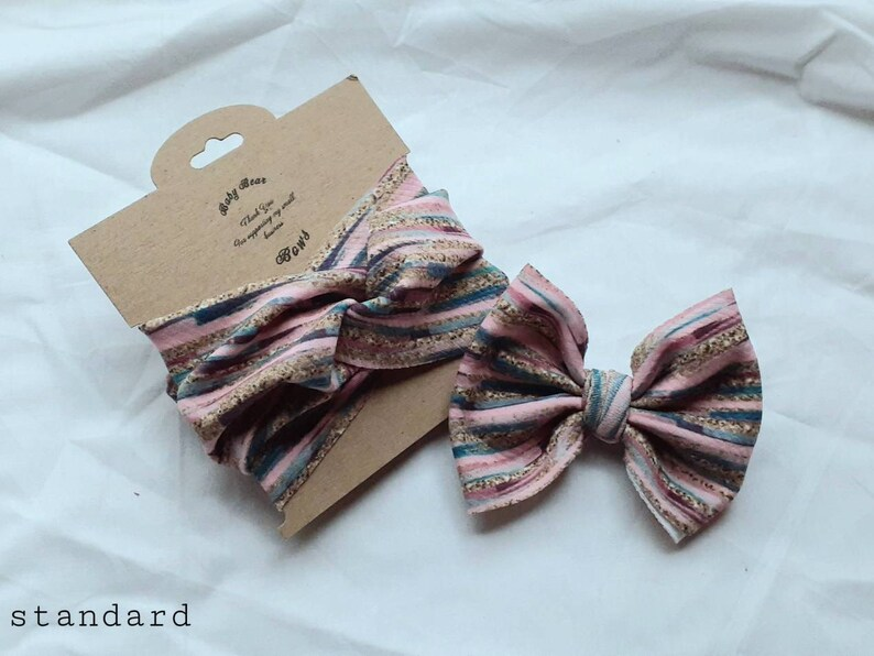 Stocking Stuffers Mommy /& Me Hair Bowheadband Set Fabric Hair Bows Mommy and Me Large Hair Bows