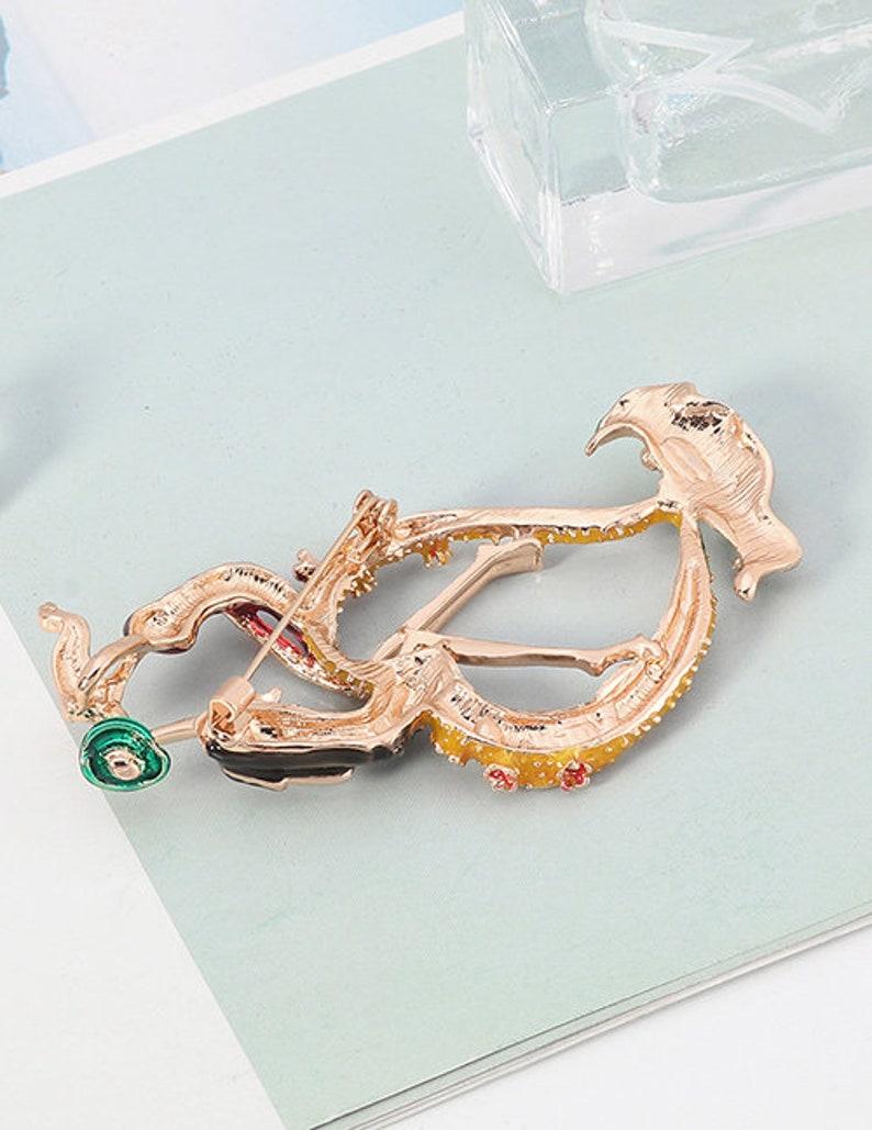 diamond brooch love brooch lover brooch scarf brooch Love Diamond Brooch