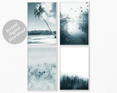 Printable Wall art Bundle Set of Nature Prints, 4 Piece of Nature Photography Arts, Home Wall Gallery Printable Digital Download Set of 4