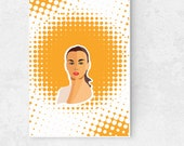 Woman Poster Modern Art Poster Printable Wall Art, Digital Download, Female Portrait Poster, Woman fashion art, Printable Wall Art