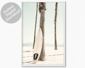 Surf Print, Beach Photography, Kitchen Prints, Kids Bathroom Wall Decor, Summer Poster, Coastal Decor, Surfboard print, Boys surf print
