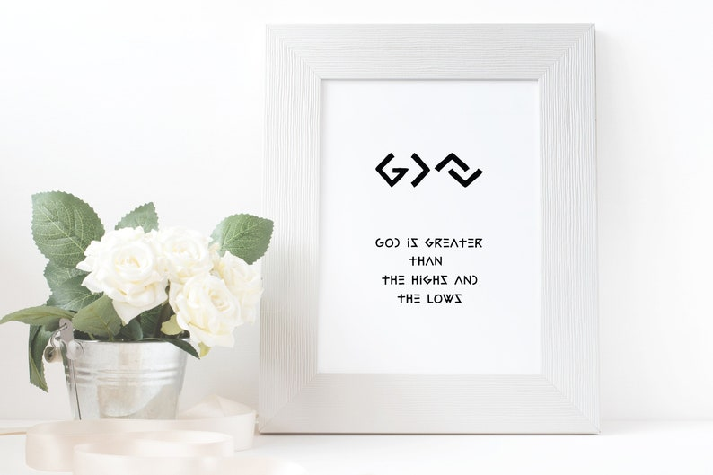 God is greater Quote printable God is greater than the highs image 0