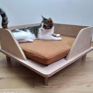 Mau Luxury Cat Bed Pretty Modern Cat Bed Dog Bed big cats Velvety Cat Basket for large cats Trendy Pet Cat furniture small cats