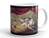 Vintage Circus Painting Mug, Ideal Tea Coffee Gift Mug