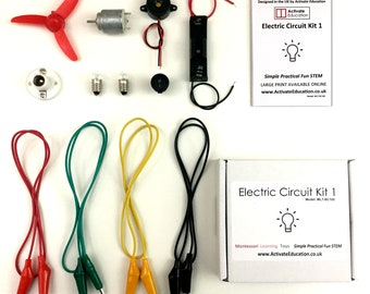 Electric Circuit Kit -  A fun educational science kit that excites and encourages creativity and learning in Science, Engineering and STEM