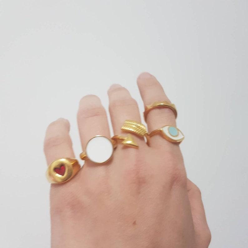 combo ring set Set of 10 Gold plated 24K Adjustable Rings big offer ring set women rings set handmade women rings set of 10 pieces