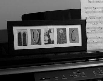 MUSIC Letter Art Photo Frame Gift