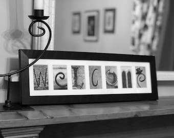 WELCOME Letter Art Photo Frame Gift