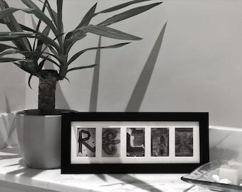 RELAX Letter Art Photo Frame Gift
