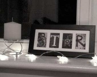 STAR Letter Art Photo Frame Gift