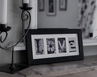 LOVE Letter Art Photo Frame Gift