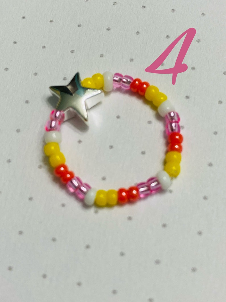 star bead Elastic star beaded ring comfortable 7 different color schemes