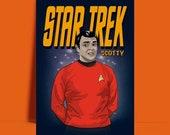Star Trek Scotty James Doohan The original series A3 A4 8 x 10 quot poster Print - UNFRAMED ART