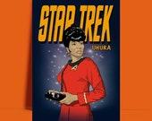 Star Trek Uhura original art Nichelle Nichols The original series A3 A4 8 x 10 quot poster Print - UNFRAMED ART