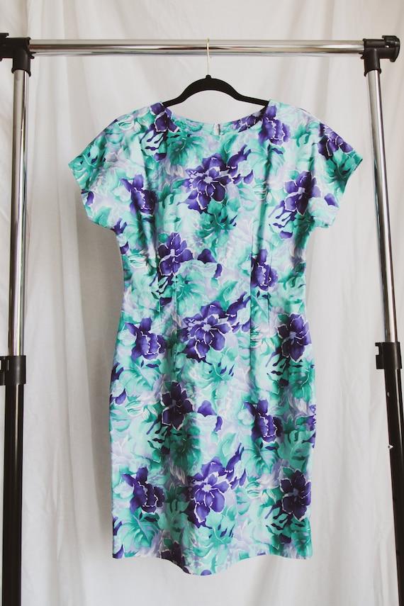 1980's FLORALS handmade vintage dress // size Smal
