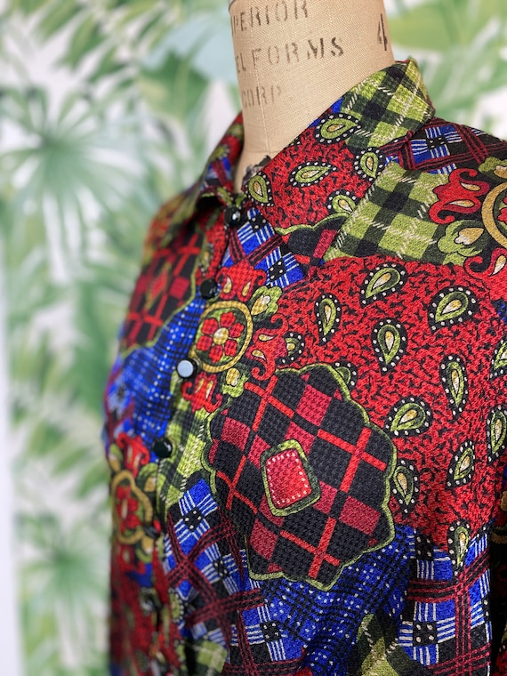 Oleg Cassini Multicolored Blouse