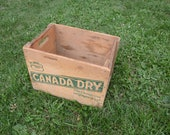 Vintage Canada Dry Wooden Crate, Rare