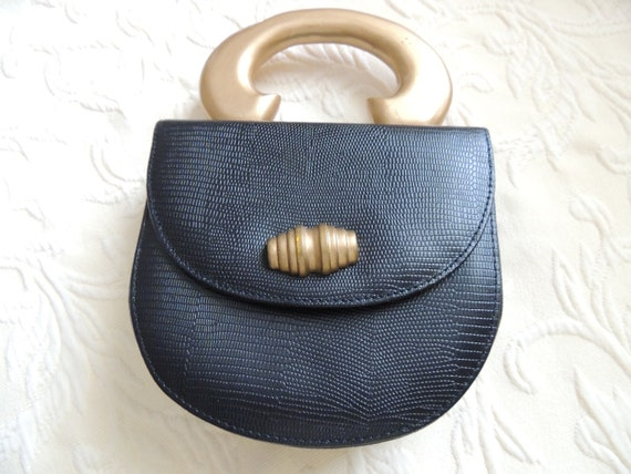Timmy Woods of Beverly Hills Black Leather Purse