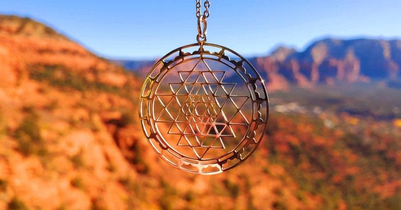 Sri Yantra Sacred Geometry Pendant
