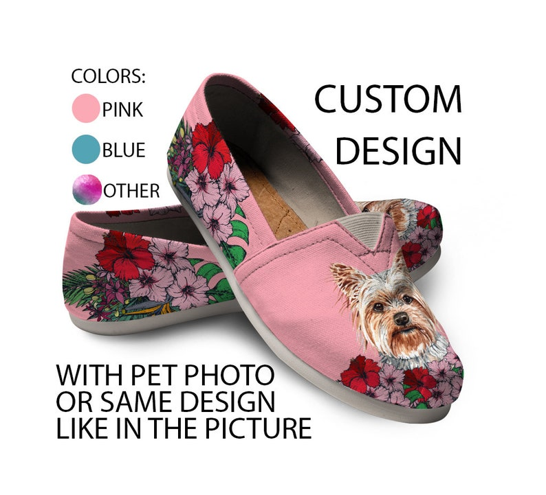 dog lovers sneaker Yorkshire Terrier Shoes custom dog shoes Custom Picture Women shoes Animal lovers