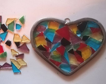Stained Glass Heart Mosaic Pack