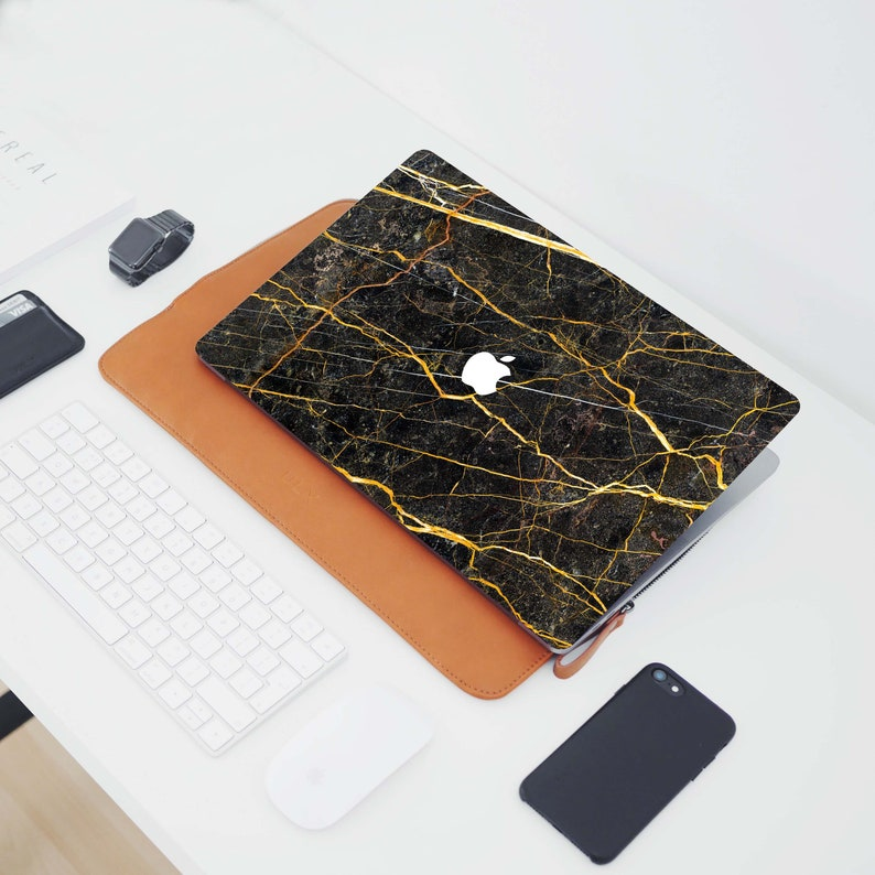 MacBook Air Case MacBook Pro Case MacBook Golden Marble case New MacBook Pro Case.