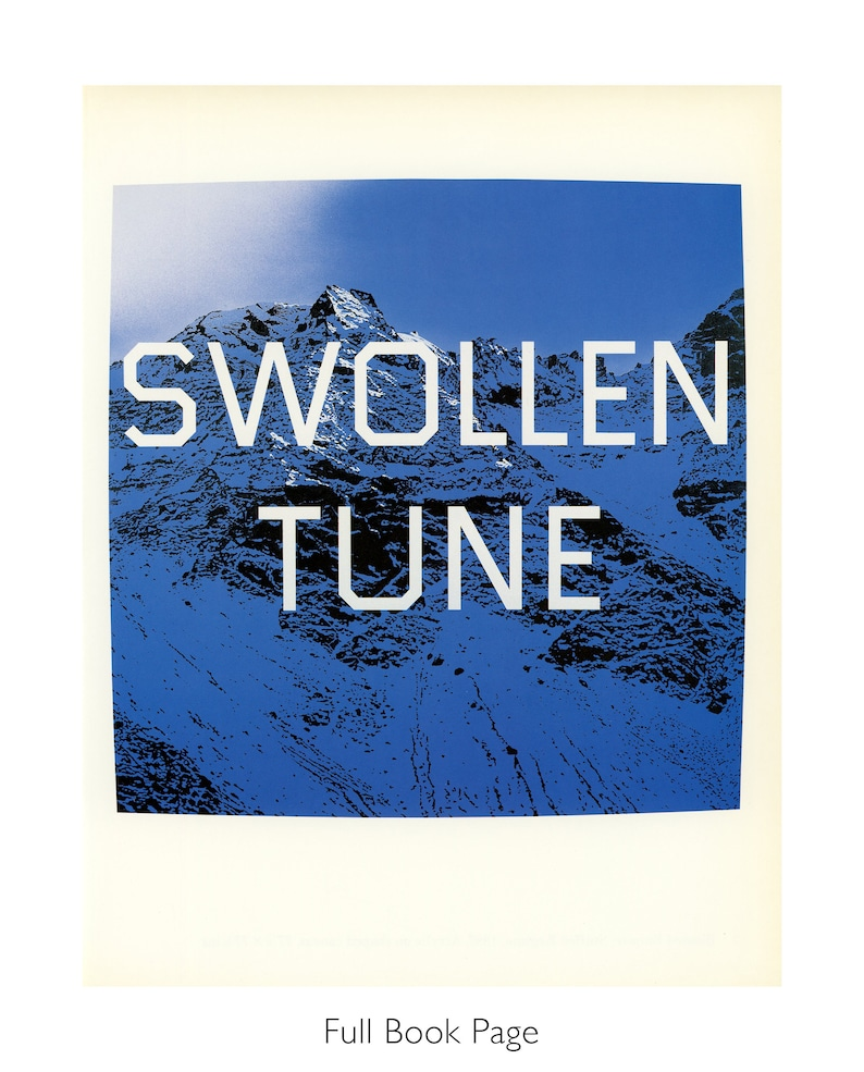 Contemporary Art Ed Ruscha Print Vintage Book Page Print Conceptual Art /'Swollen Tune/' Typography Print Word Art for Gallery Wall